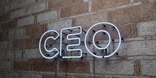 CEO - Glowing Neon Sign On Sto...