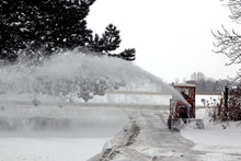 Blowing Snow Thrower In Winter...