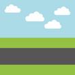 road landscape isolated icon vector illustration design