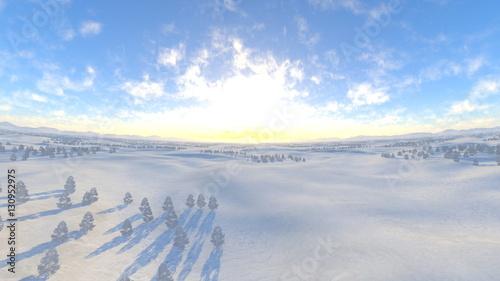 Vászonkép 雪原