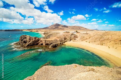 Spoed Foto op Canvas Canarische Eilanden Papagayo Beach, Lanzarote, Canary Islands