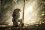 nadzieję, że życie rybak rzeki Mekong - 130959900