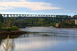 Reversing Falls Bridge and area Saint John River NB