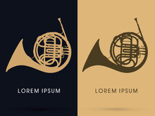 French Horn Graphic Vector.