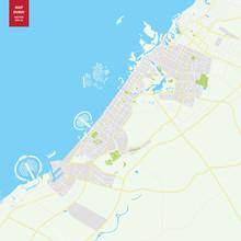 Vector Map Dubai