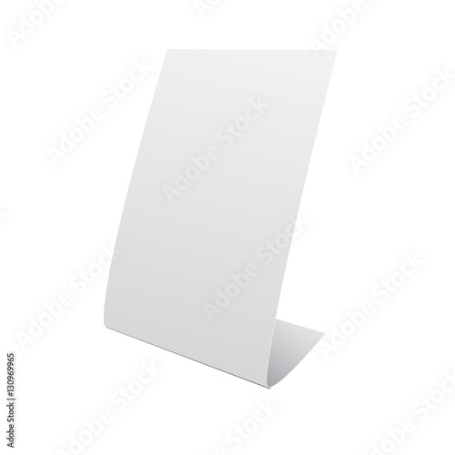 nameplate stand banner on white background mock up template read