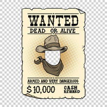 Western Ad Wanted Dead Or Alive