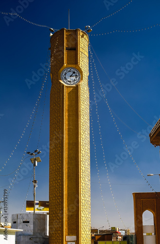 Clocktower of Abu Hanifa Mosque the in Baghdad, Iraq