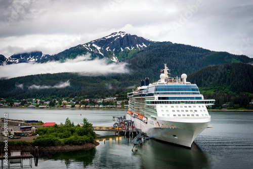 Cruise ship at port in Juneau, Alaska