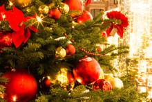 Christmas Fair. Decorated Chri...
