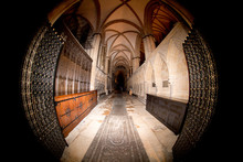 Lincoln Cathedral In Great Britain Interior Night View