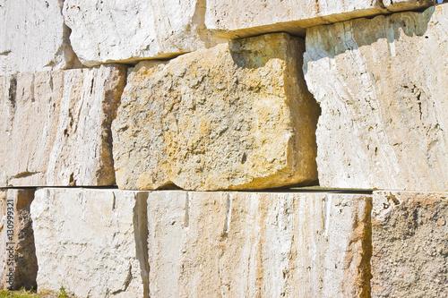 Großer überlagerter Steinblockhintergrund Fototapete