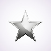 Silver Star Logo For Your Desi...