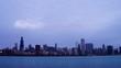 Chicago Skyline Sunrise Timelapse Video