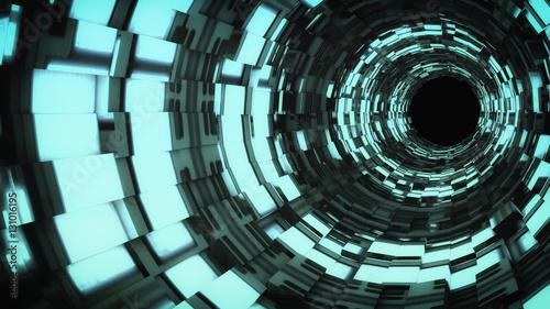 Plakat 3d Futurystyczny tunel
