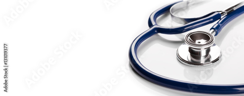 Fotografie, Obraz  Stethoscope on white background