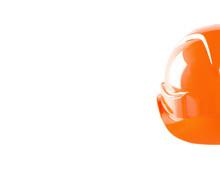 Construction Orange Helmet Isolated On White Background