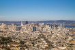 View of San Francisco from a top the Tween Peaks, one sunny day.