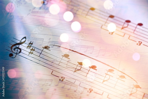 Fotografia, Obraz Sheet music.
