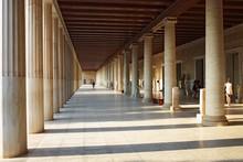 Stoa Of Attalos (portico) In Ancient Agora, Athens, Greece