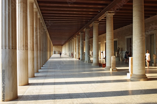 Stoa of Attalos (portico) in Ancient Agora, Athens, Greece Wallpaper Mural