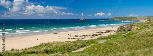 Montage in der Fensternische Küste Gwithian Cornwall England UK