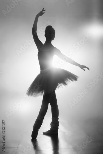 silhouette of a ballerina Canvas Print