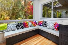 L-shaped Kitchen Window Seat
