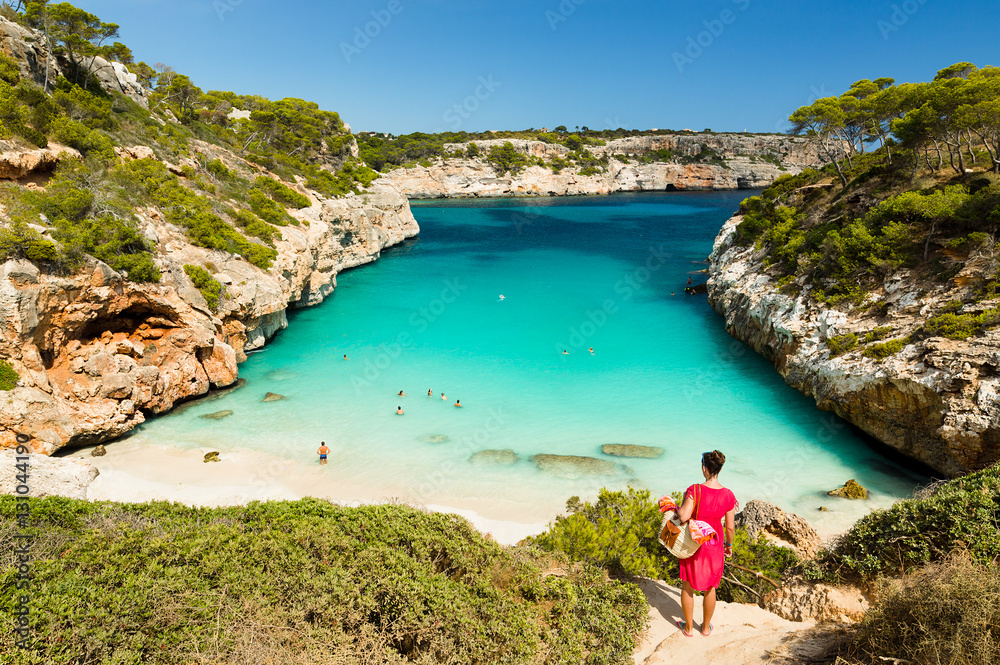 Fototapety, obrazy: Calo des Moro, Mallorca. Spain.  One of the most beautiful beaches in Mallorca.