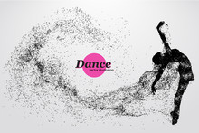 Silhouette Of A Dancing Girl F...