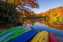 Beached Kayaks, Price Lake, Bl...