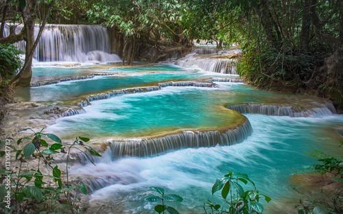 fototapeta na ścianę Kuang Si Falls, Luang Prabang Province, Laos