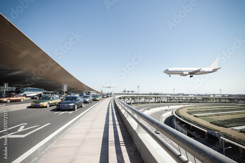 Foto op Plexiglas Luchthaven beijing international airport