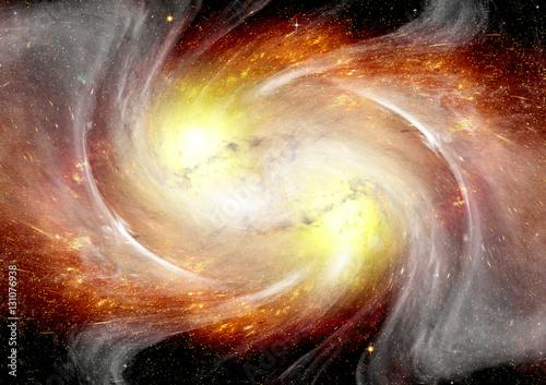 Fototapety, obrazy: Stars, dust and gas nebula in a far galaxy