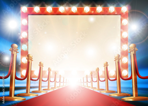 Photo  Red Carpet Light Bulb Sign