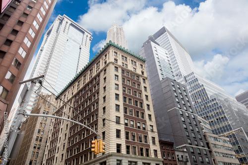 Wall Street Skyscrapers, Manhattan, New York City