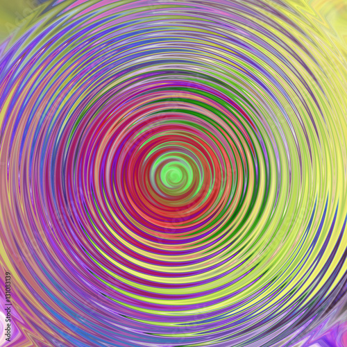 Poster Psychedelic Abstract background with paint stains in different colors