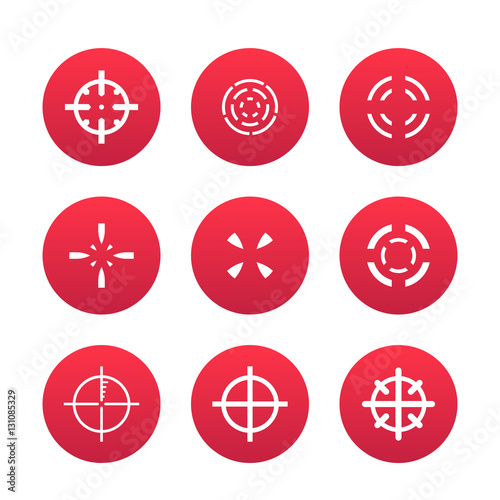 Crosshairs Set Elements For Game Design Over White Vector Il Ration