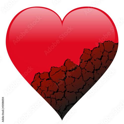 Fotografie, Obraz  Coeur brisé - divorce - séparation - couple - histoire d'amour