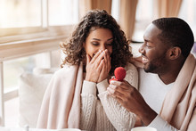 Amazed African American Couple...