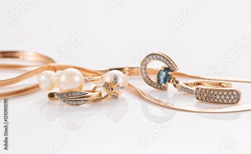 Valokuva  Best gift for girl - gold jewelry