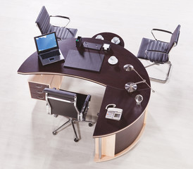 Office furniture top view