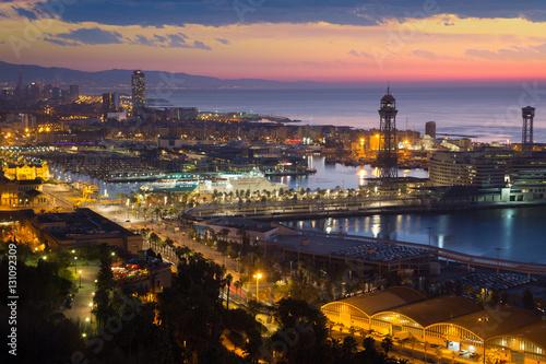 In de dag Barcelona Dawn view of Barcelona