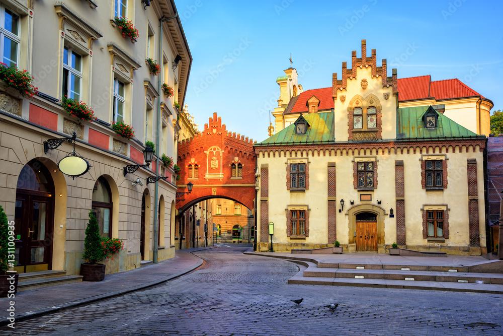 Fototapety, obrazy: Little street in the old town of Krakow, Poland
