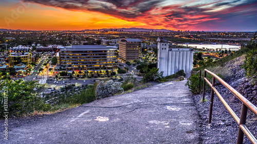Canvas Prints Arizona Sunset at the Mill: This image was shot from