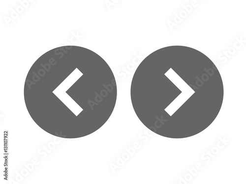 Fotografía Left right or back next icon button vector