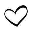 Cute decorative heart icon vector illustration graphic design