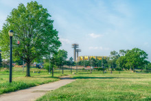 NEW YORK: Flushing Meadows Corona Park - The Largest Park In Queens, It Offers Plenty Of Space For Whatever Your Recreational Desires May Be--baseball, Soccer, Tennis, Cricket.