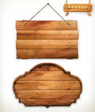Wooden Board, Old Wood Vector