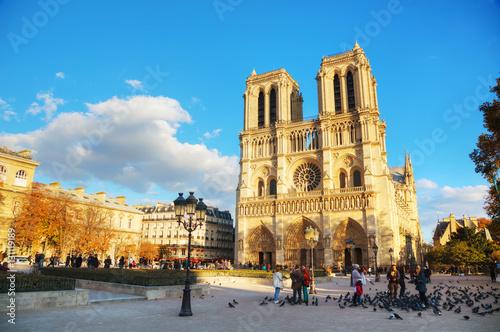 Poster Paris Notre Dame de Paris cathedral